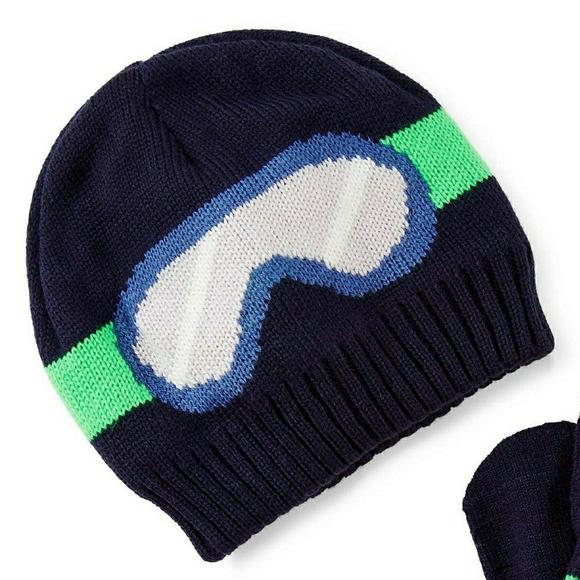 Carters Fleece-Lined Ski Goggles Hat
